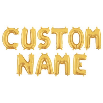 Custom NAME Balloon Set