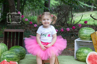 watermelon smash birthday outfit and photo session