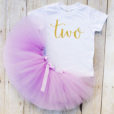 Two Year Old Birthday Girl Tutu Outfit