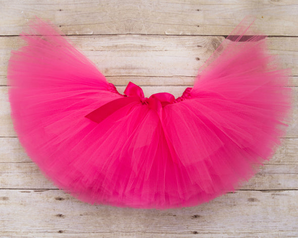 hot pink tulle tutu by sweet chubby cheeks