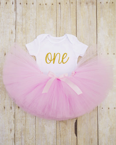 first birthday tutu and bodysuit outfit