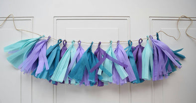 under the sea party tassel garland