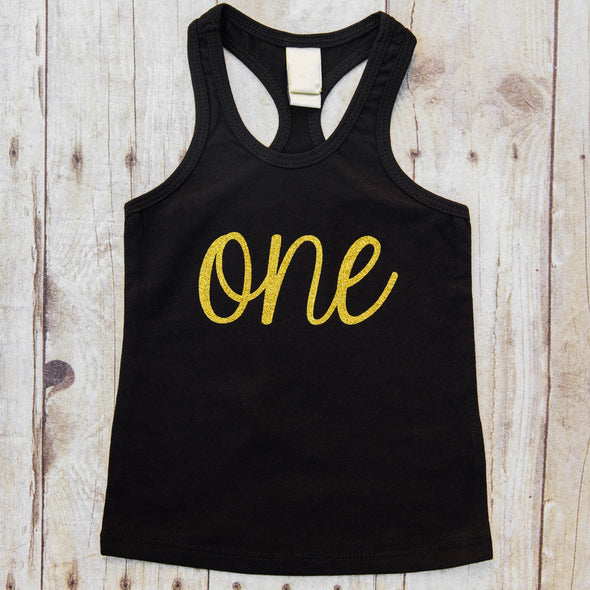 one year old birthday tank top