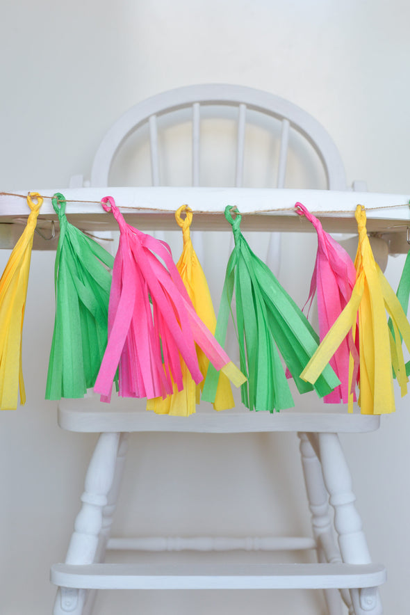 tissue paper high chair banner