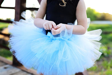 light blue tutu made by sweet chubby cheeks