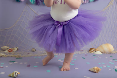 sweet chubby cheeks purple tulle tutu