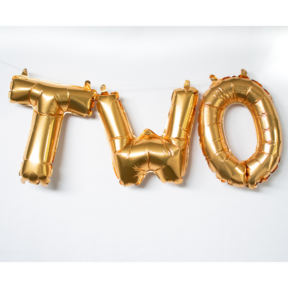 gold letter two balloons set sold by sweet chubby cheeks