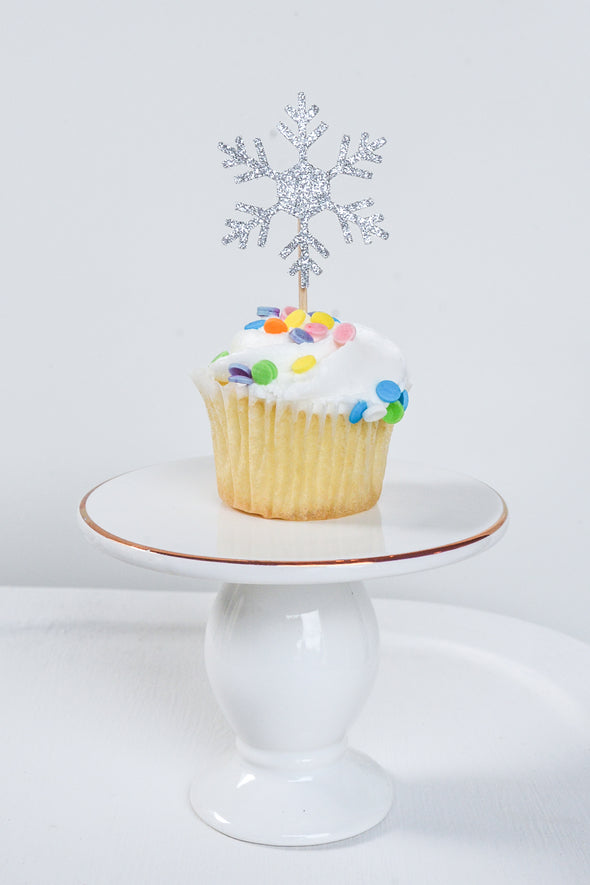 snowflake cupcake toppers sold by sweet chubby cheeks