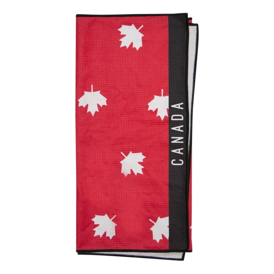 Large microfiber sublimation printed Canada golf towel. Top quality unique designs.