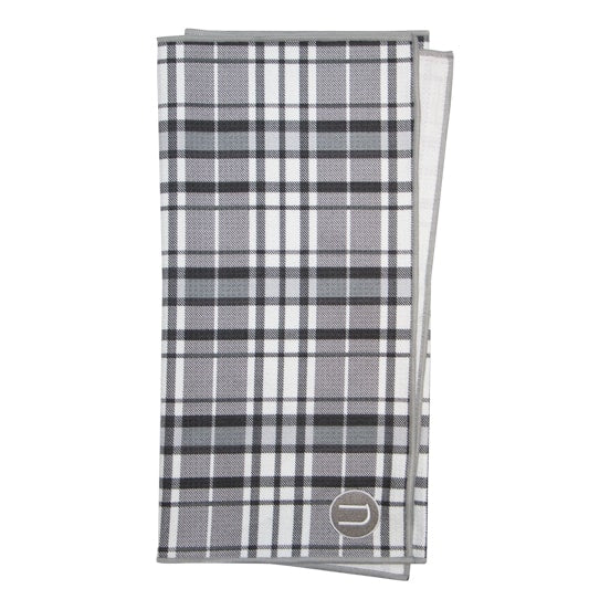 Large microfibre sublimation printed plaid golf towel with embroidery. Top quality golf towel better than nike golf towels and club glove.