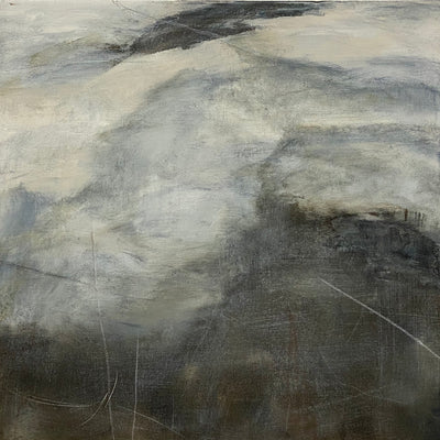 Juanita Bellavance, Changing terrain, From the Chestatee River portfolio, 2021, Acrylic on canvas, 24 x 24 inches.