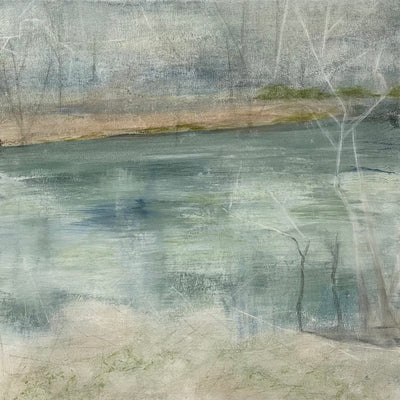 Juanita Bellavance, Spring foliage rising, From the Chestatee River portfolio, 2021, Acrylic on canvas, 24 x 24 inches