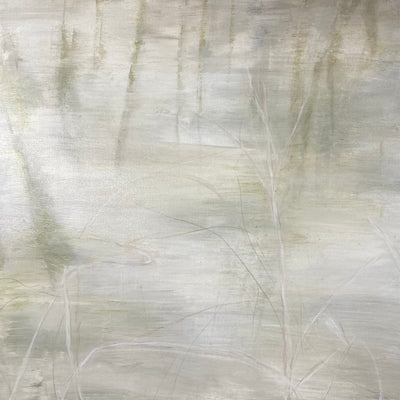 Juanita Bellavance, White on white, From the Chestatee River portfolio, 2021, Acrylic on canvas, 24 x 24 inches.