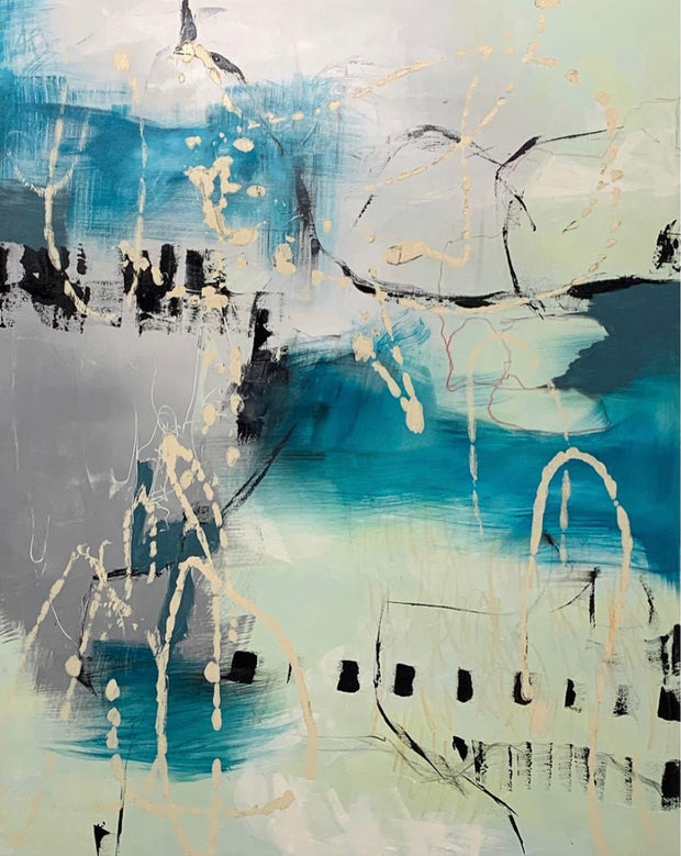 Juanita Bellavance, Pond hopping, 2020, Acrylic, 60 x 48 inches