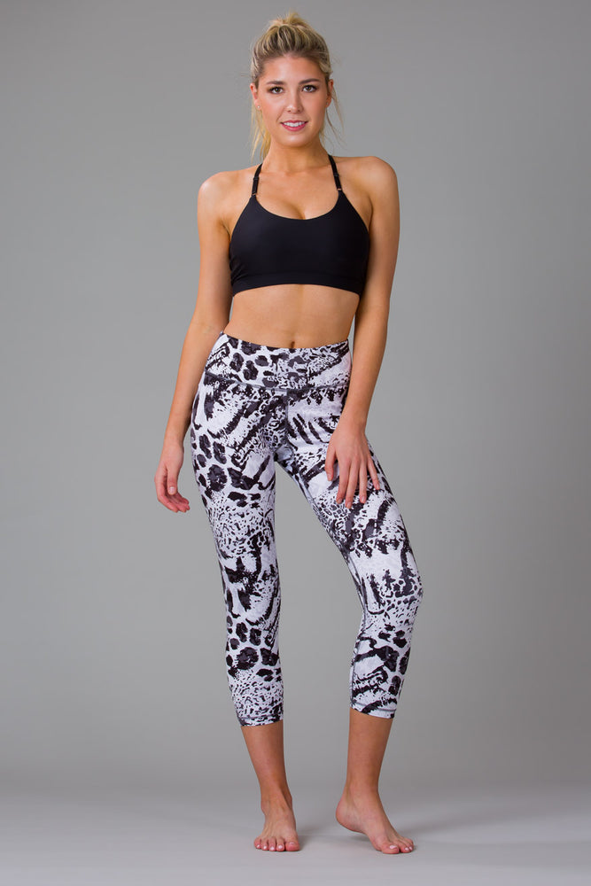 Snow Leopard 7/8 Length Leggings