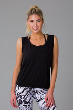 Women's Black Backless Top