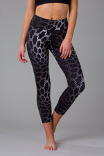 Black Python 7/8 Length Leggings