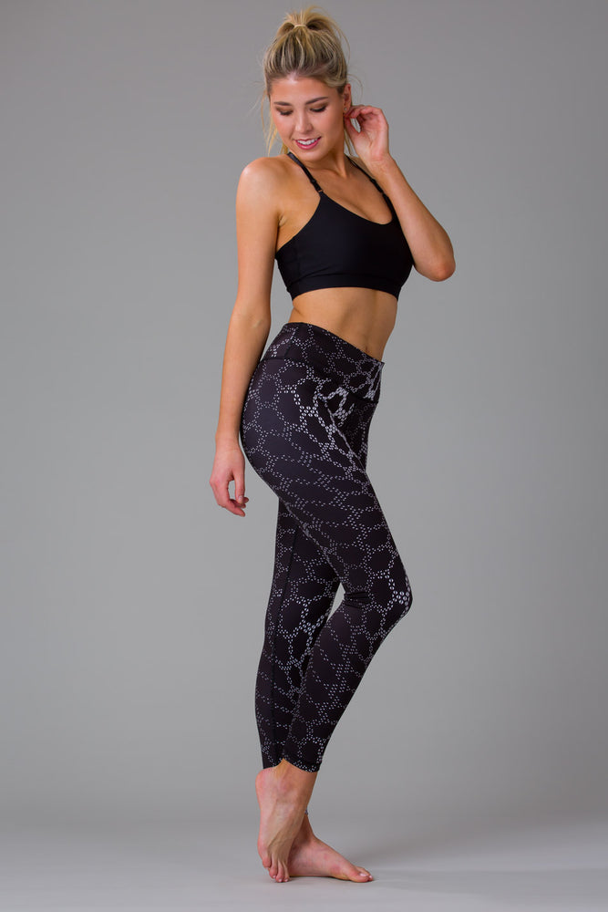 Black Python Women's Full Length Leggings