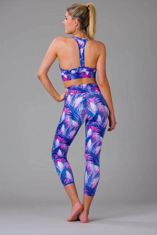 Tropical Palms 7/8 Length Leggings