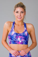 Women's Tropical Palms Sports Bra