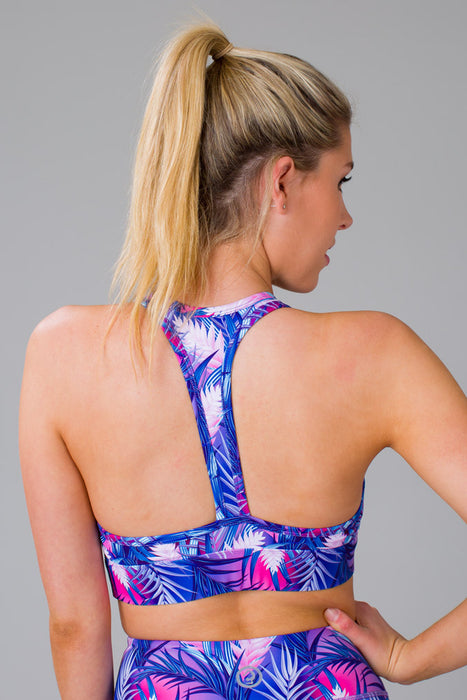 Tropical Palms Sports Bra