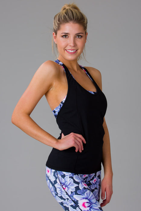 Pink Orchid Singlet with Built-In Bra