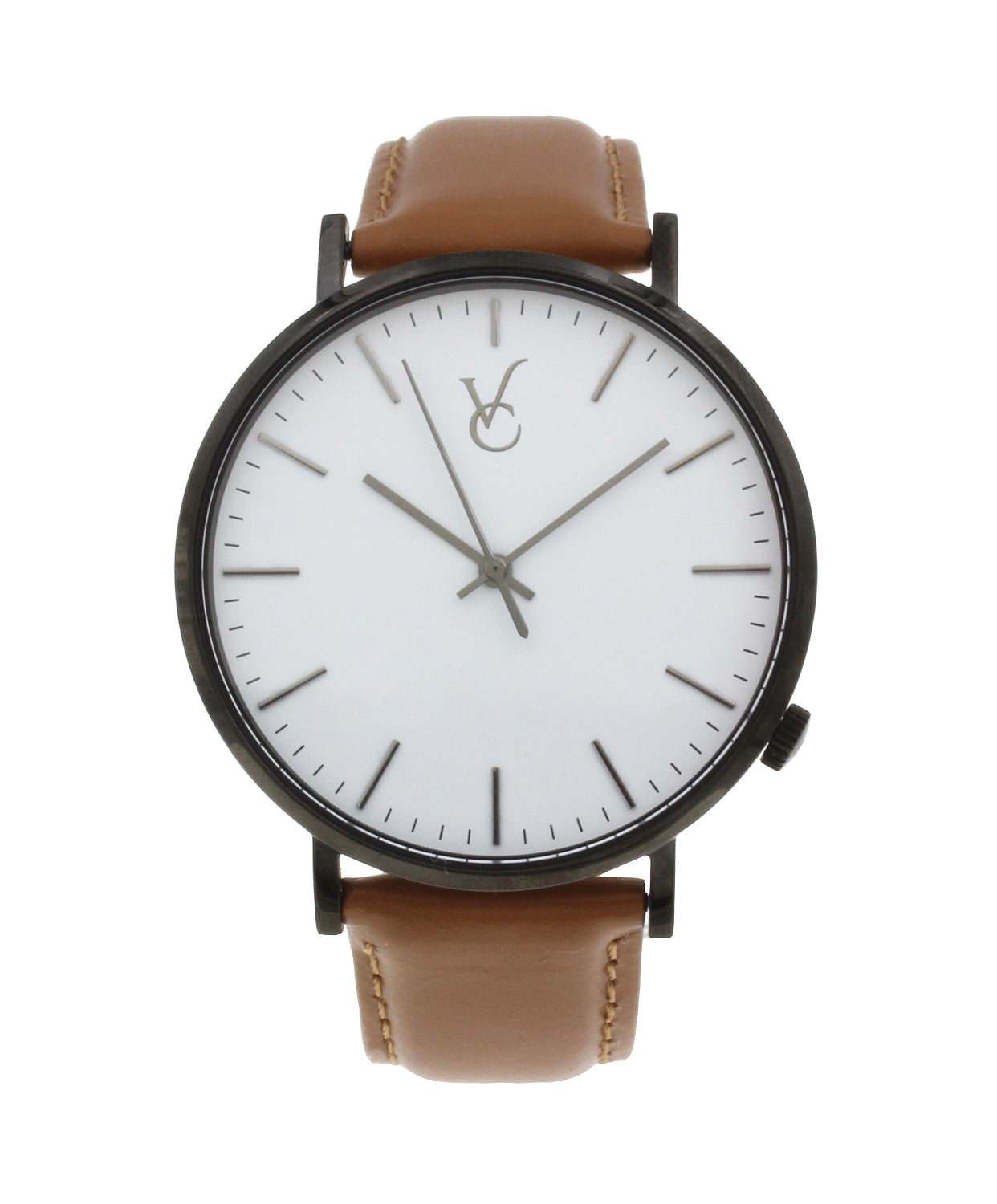 Brown Leather & Black Trim Watch