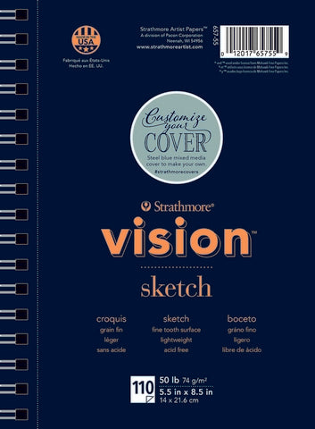 Vision Sketch Pad Wire Bound