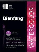 BIENFANG AQUADEMIC WATERCOLOR PAD 90LB 15 SHEET 9X12