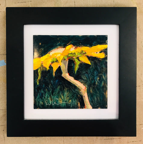 Of Yellow Oil Painting by Ed Nickerson