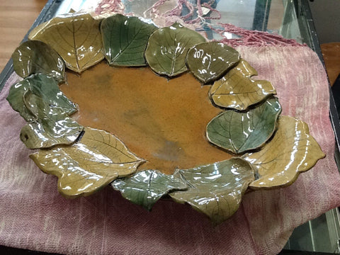 Leaf Platter by Nathalie Harris