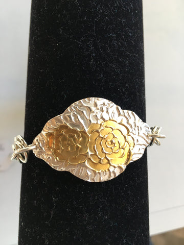 Fine silver and gold plate bracelet