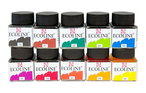 ECO LIQUID WATERCOLOR 10 JAR SET
