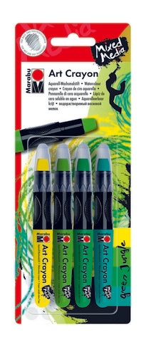 ART CRAYON SET WATER SOLUBLE JUNGLE 4PC SET