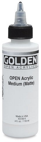 GOLDEN OPEN 4OZ ACRYLIC MED MT