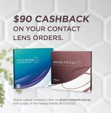 Alcon $90 Cash Back on Contact Lenses