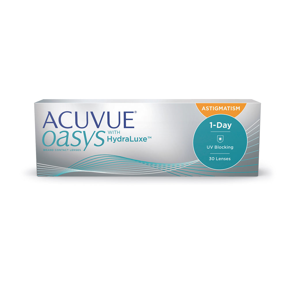 ACUVUE OASYS 1-Day with HydraLuxe for ASTIGMATISM - 30 Pack Contact Lenses $54.99 Express Post