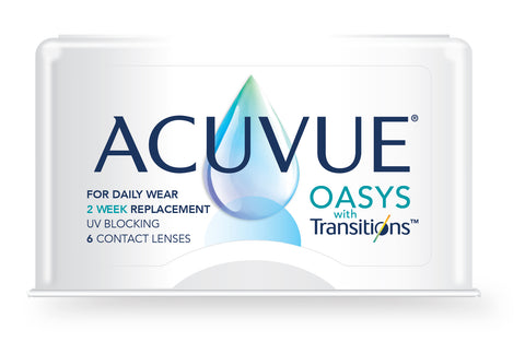 ACUVUE OASYS with Transitions - 6 Pack Contact Lenses $67.99 Express Post