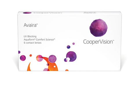 Avaira - 6 Pack Contact Lenses $33.99 Express Post