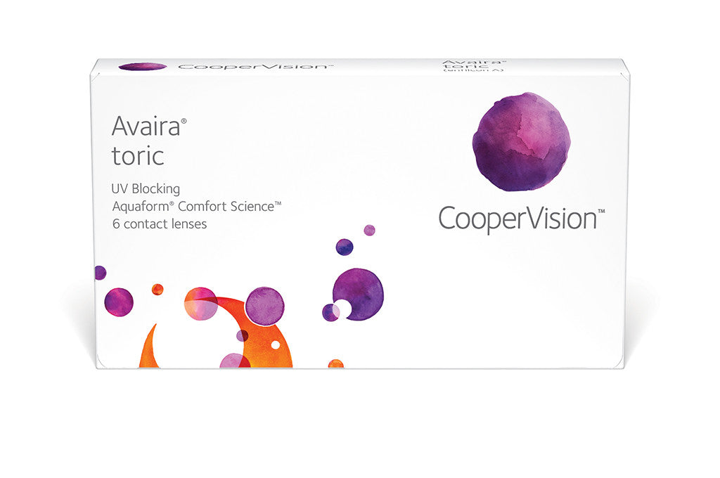 Avaira Toric - 6 Pack Contact Lenses $49.99 Express Post