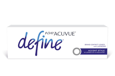 1 DAY ACUVUE DEFINE Accent Style (black) - 30 Pack Contact Lenses  $49.99 Express Post
