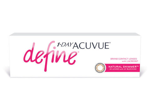 1 DAY ACUVUE DEFINE Natural Shimmer - 30 Pack Contact Lenses $41.99 Express Post