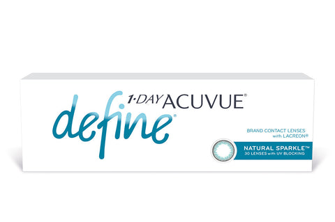 1 DAY ACUVUE DEFINE Natural Sparkle - 30 Pack Contact Lenses $41.99 Express Post