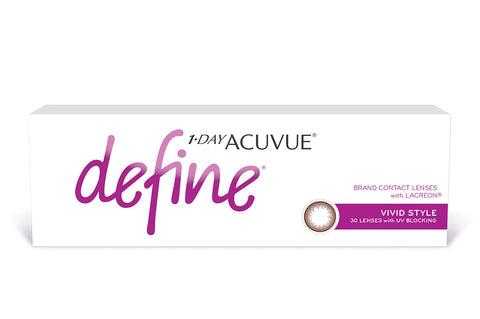 1 DAY ACUVUE DEFINE Vivid Style (brown) - 30 Pack Contact Lenses $44.99 Express Post