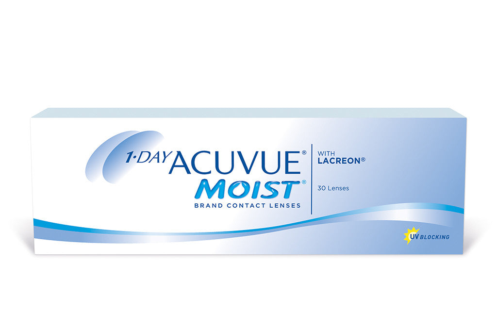 1 DAY ACUVUE MOIST - 30 pack Pack Contact Lenses $31.99 Express Post