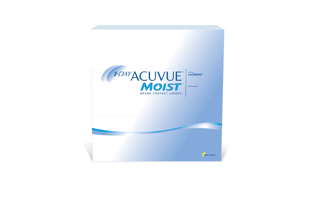 1 DAY ACUVUE MOIST - 90 Pack Contact Lenses $69.99 Express Post