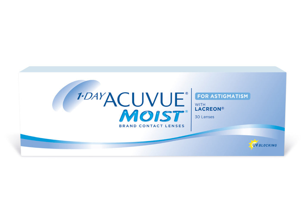 1 DAY ACUVUE MOIST for Astigmatism - 30 Pack Contact Lenses $49.99 Express Post