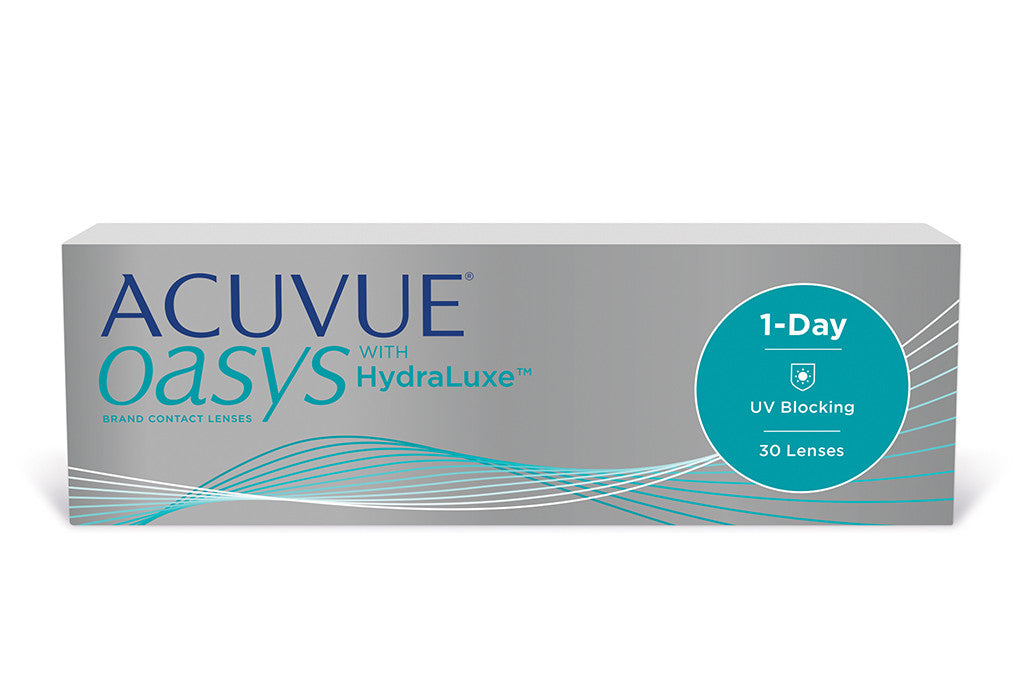 1 DAY ACUVUE OASYS with HYDRALUXE - 30 Pack Contact Lenses $44.99 Express Post