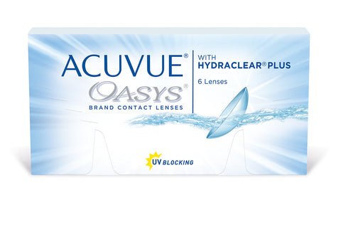 ACUVUE OASYS with HYDRACLEAR PLUS - 6 Pack Contact Lenses $37.99 Express Post