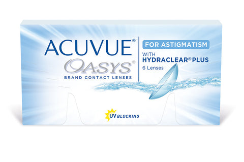 ACUVUE OASYS with Hydraclear plus for ASTIGMATISM  - 6 Pack Contact Lenses $48.99 Express Post